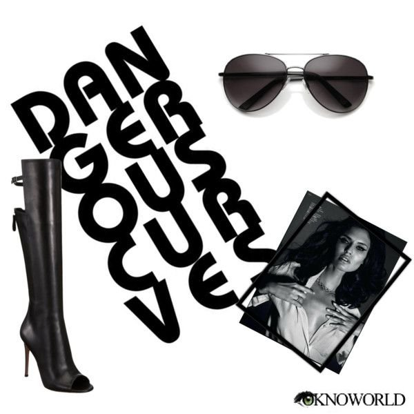 Perfect Combination: Leather Boots & Aviator Sunglasses