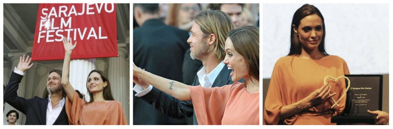 Angelina Jolie and Brad Pitt during the Sarajevo Film Festival