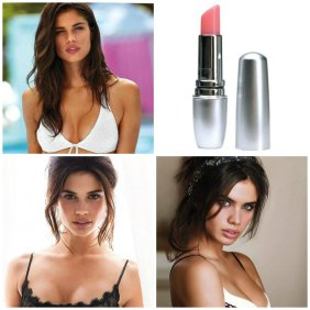Portuguese model Sara Sampaio's lips